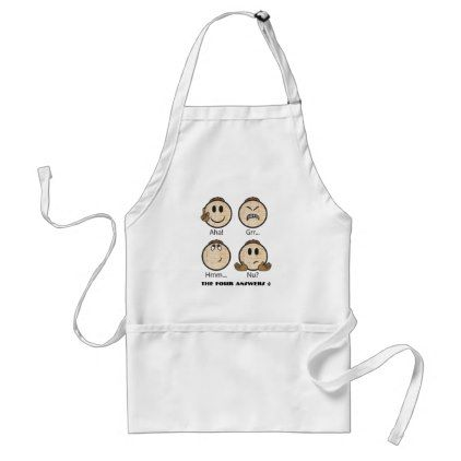 """Passover """"The Four Answers"""" Standard White Apron - home gifts ideas decor special unique custom individual customized individualized"""