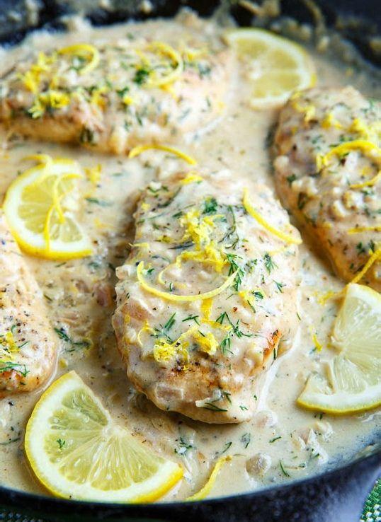 Low FODMAP Recipe and Gluten Free Recipe - Chicken with lemon & herb sauce  http://www.ibssano.com/low_fodmap_recipe_lemon_herb_chicken.html