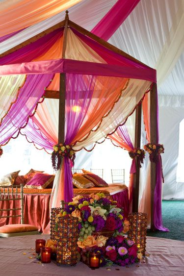 Gorgeous Sangeet by David tuttera. Indian wedding decor Garba