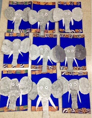 Kindergarten elephants-Art with Mr. Giannetto