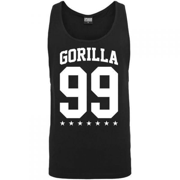 """Gorilla Sports 99 loose hihaton musta, 16,95 €. Upea loose hihaton paita, johon on lisätty tähtikuvioita. Paita kuuluu 99-mallistoon. Hihaton paita on tehty """"Loose"""" versioksi joten se on löysän mallinen. #gorilla #tpaita #paita"""