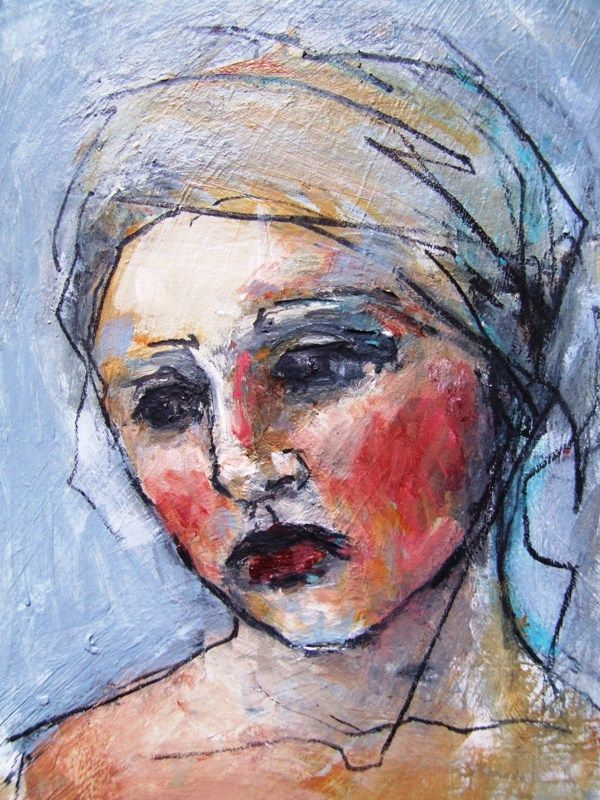 Small Painted Portrait - Adele  Gillian Lee Smith