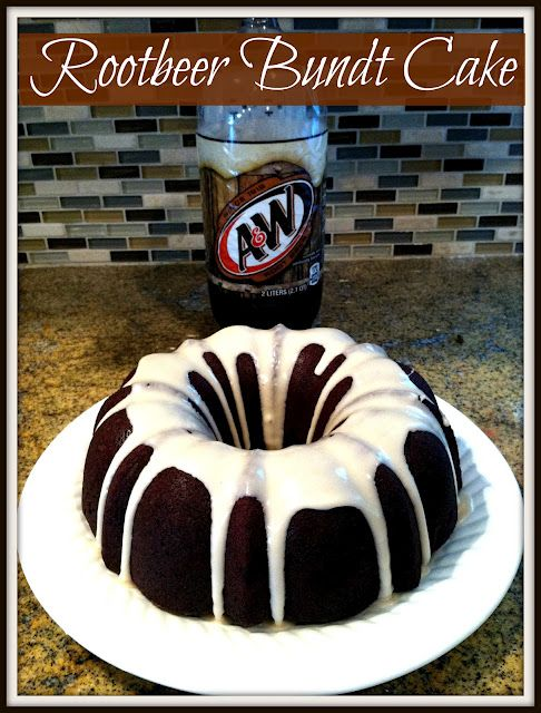 Rootbeer bundt cake. I just died a little inside.
