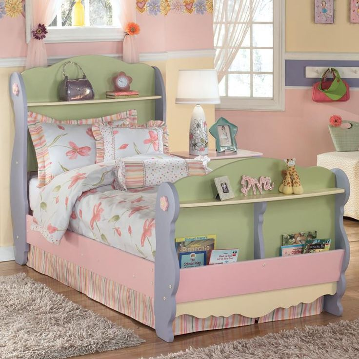 Doll house twin sleigh bed by signature design by ashley - Ashley furniture kids bedroom sets ...