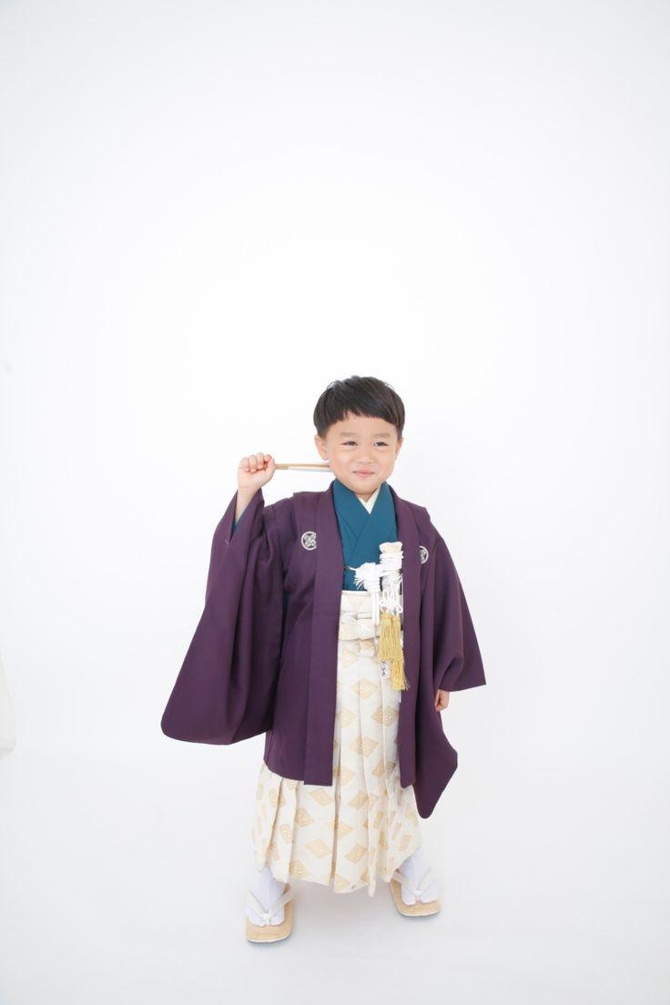 無地着物紫 5歳男児 | きもの六花(ricca)は、大阪・北区・中崎町の和裁・着付け・着物販売・着物レンタル・和裁教室・着付け教室・和装婚礼・着物お仕立てのお店です。