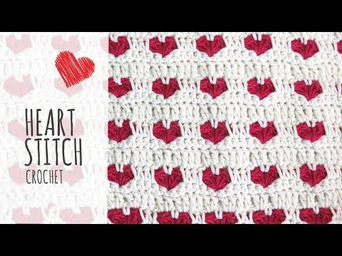 Tutorial Heart Stitch Crochet (Valentines Day), My Crafts and DIY Projects