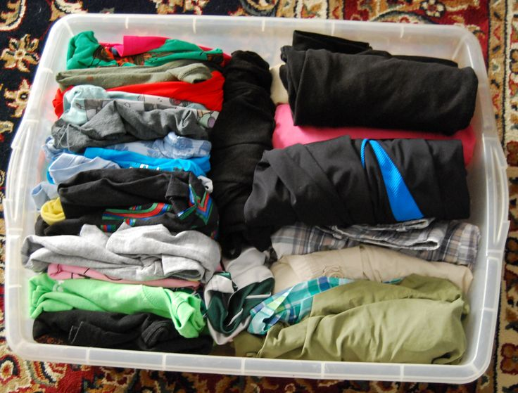 Tip For Packing For Camp Use An Under The Bed Tub Stack