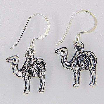 camel earrings camel sterling silver earrings by jewelkingthai, $10.00