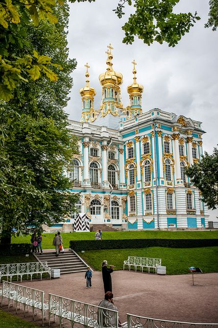 Catherine Palace, St Petersburg, Russia. Not named for Catherine the Great, but rather Catherine, the second wife of Peter the Great.
