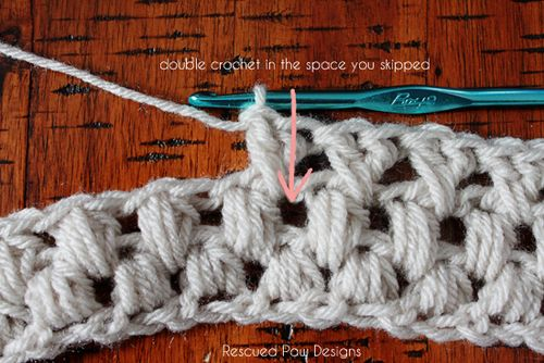 Criss Cross Puff Crochet Scarf :: Free Pattern - Rescued Paw Designs