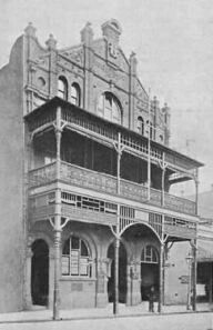 Manchester Unity Hall at 2-14 Enmore Rd,Newtown in the inner west of Sydney.