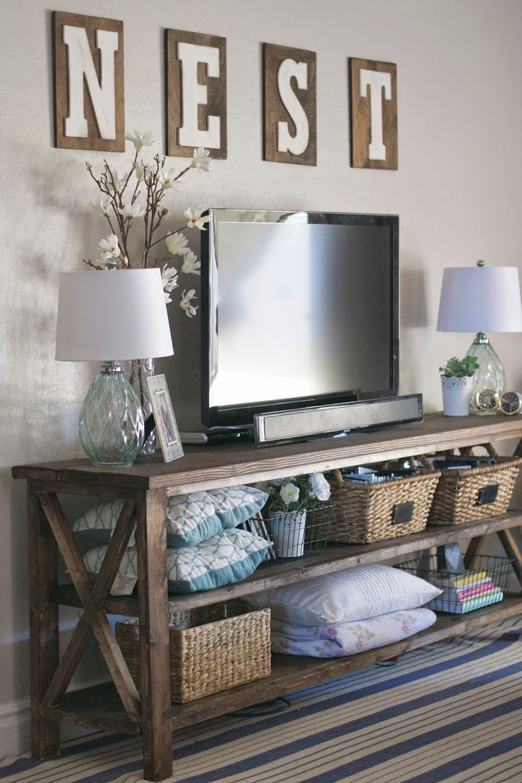 DIY farmhouse console &a peek into our family room. | Paddington Way.