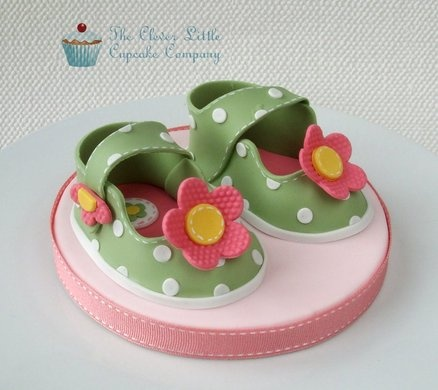Cake Decorations Baby Shoes : 115 best images about girl baby shower cakes on Pinterest ...