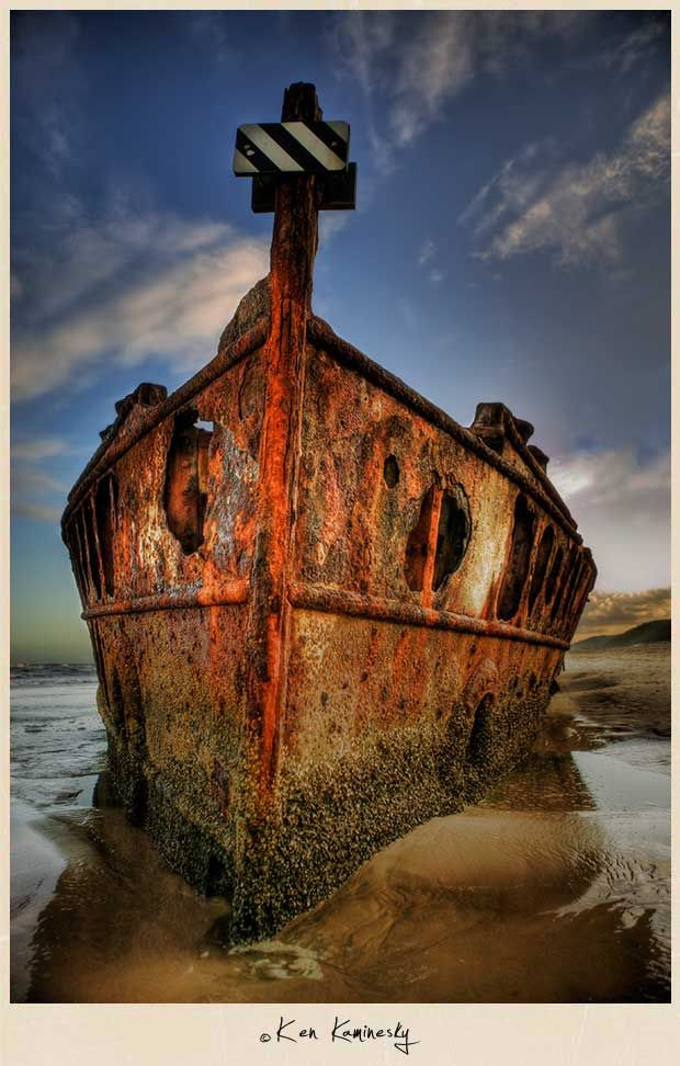 """Shipwrecked on a Desert Island in Australia"" - Fraser Island, Australia, by Ken Kaminesky"