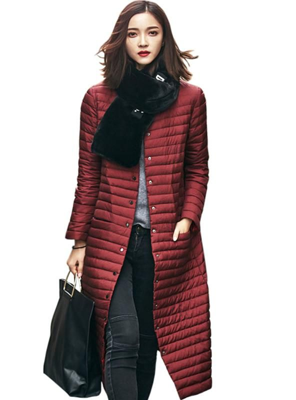 5e928d6a6152 Light Down Jacket Women Long Puffer Coat – Lilacoo