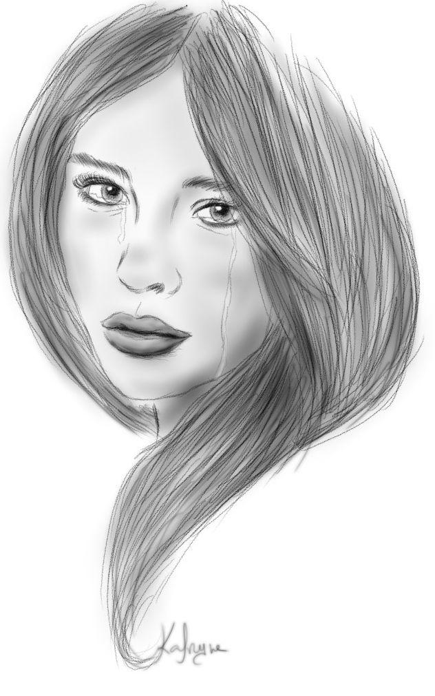 Dessin portrait femme dessins pinterest dessin - Dessin profil visage ...