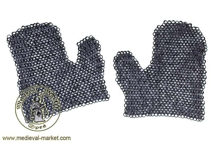 Chainmail hands - pair (round rivets). SPES Medieval Market