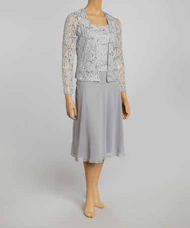 Another Great Find On Zulily Silver Lace Sleeveless Dress Jacket Pee By
