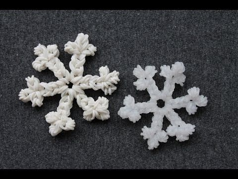 Rainbow Loom Nederlands, sneeuwvlok - YouTube