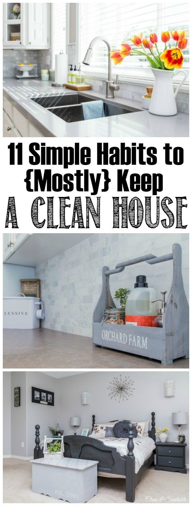 Keep a house clean and tidy with these 11 daily habits. They are simple to follow and anyone can do them!