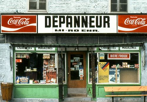 Le dépanneur, the corner store by ifotog, Queen of Manhattan Street Photography, via Flickr