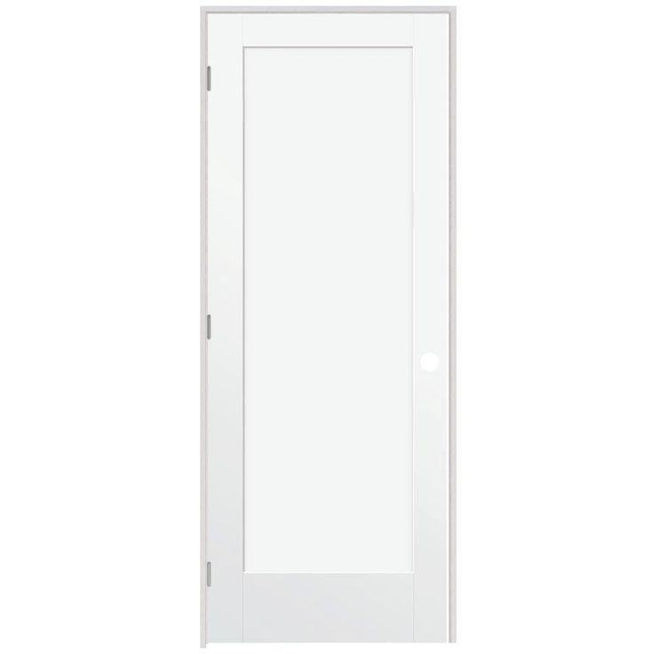 Steves sons ultra 1 panel smooth primed white prehung for Home depot prehung french doors