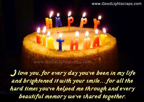 Romantic Birthday Quotes for Boyfriend | Romantic birthday scraps, greetings and cards, happy birthday love ...