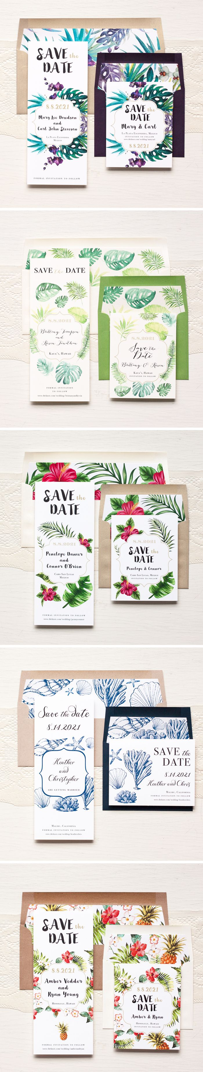 Aloha! Tropical Inspired Save The Dates