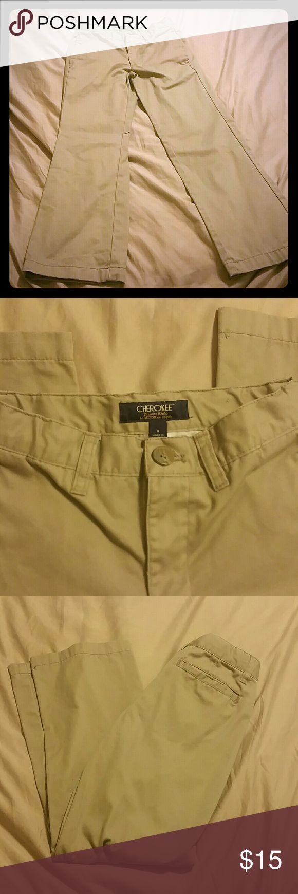 Boys Pants Gently Worn Cherokee khaki slacks Cherokee Bottoms Casual