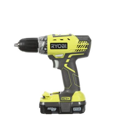 Ryobi ONE+ 18-Volt Lithium-Ion Compact Drill/Driver Kit P1811 at The Home Depot - Mobile