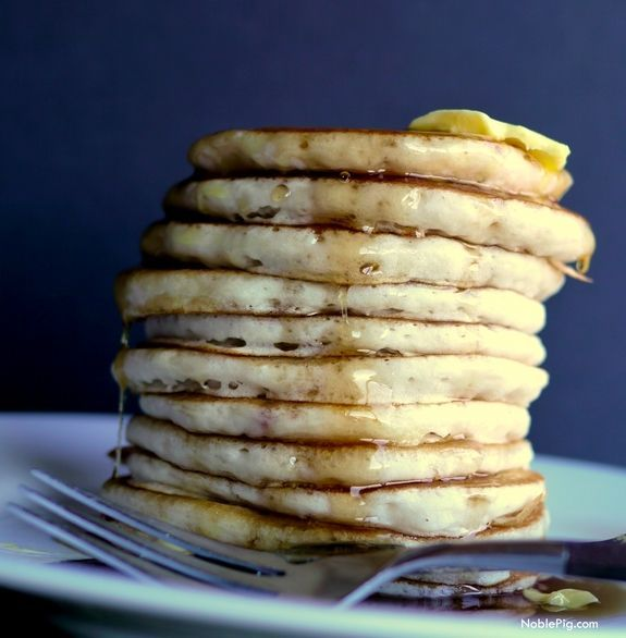 There is a secret when it comes to making the fluffiest pancakes, from NoblePig.com.