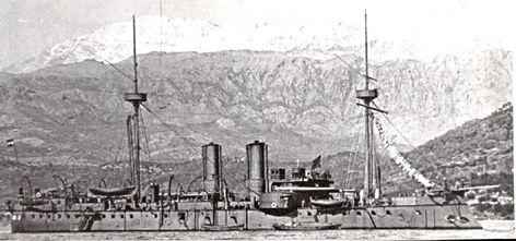 KRONPRINZ ERZHERZOG STEPHANIE (1887). Barbette ironclad. 5,075 tons, 2-12in