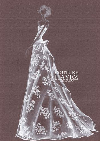 Valentina #couturehayez  , figurini sposa, #madeinitaly , luxury wedding, wedding couture