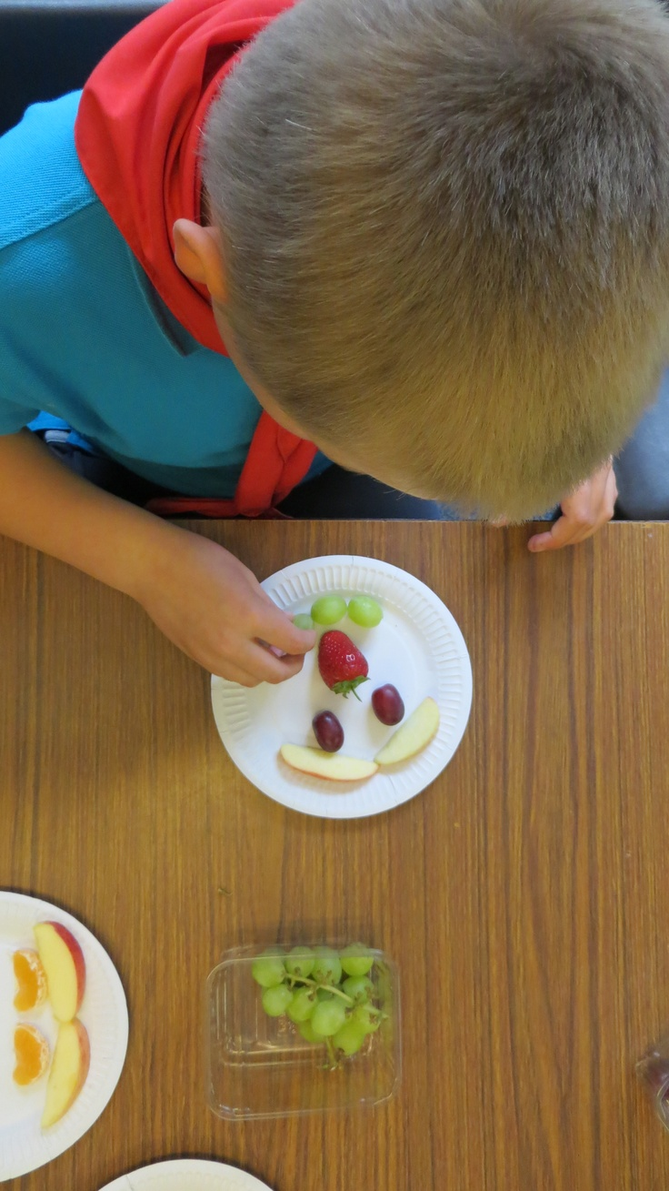 Fruit faces as part of our Health & Fitness badge work :)