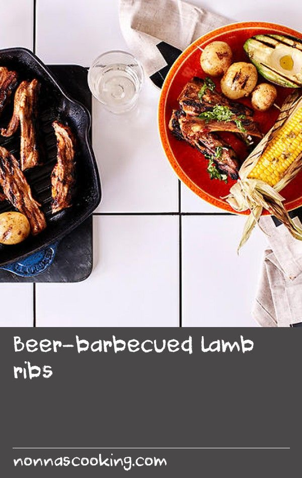 """Beer-barbecued lamb ribs 