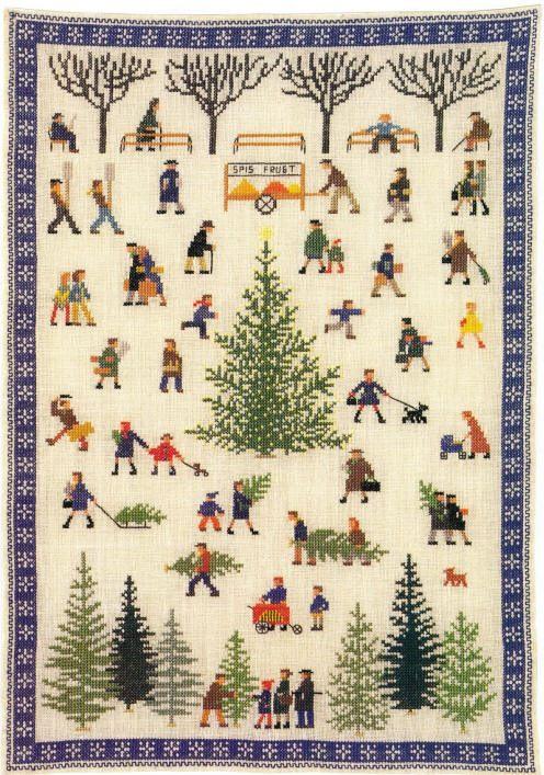 Christmas Shopping by Gerda Bengtsson, Danish Handcraft Guild