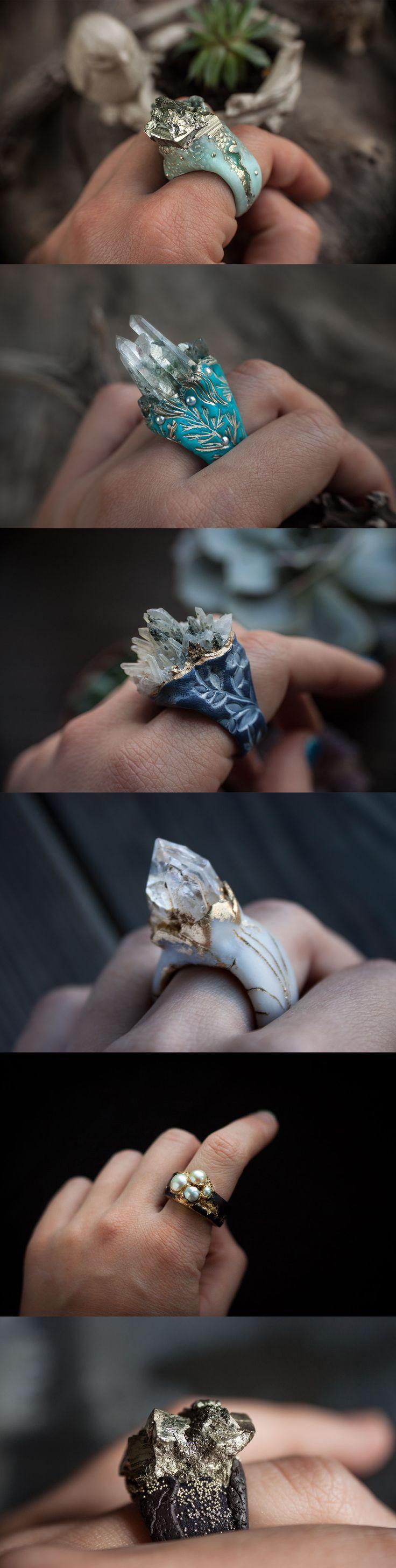 #ring #ellen rococo #polymer clay #jewelry