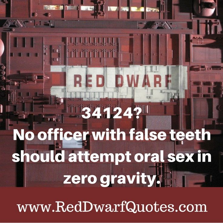 34124? No officer with false teeth should attempt oral sex in zero gravity