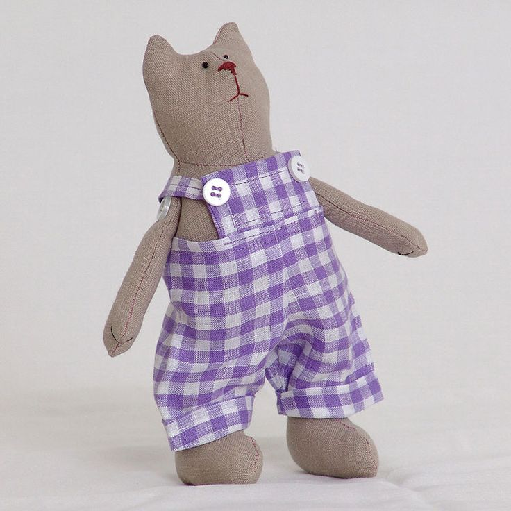Кукла ручной работы `Кот` (в комбинезоне) купить в Минске - подарки и сувениры на OZ.by