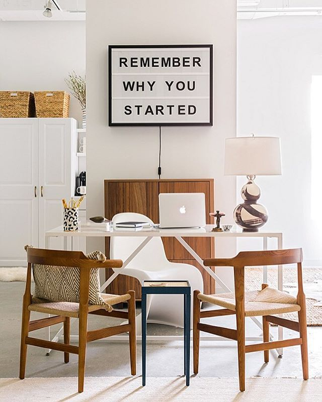 Lightbox in office - Remember Why You Started. I love that quote!