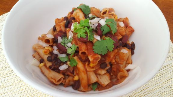 "Chili Mac Premium ProtectiveDiet.com Recipe - I call my electric pressure cooker the ""Life Changer. Chili Mac is an easy-to-follow recipe perfect after a busy day. You know - those days you can't bear the thought of cooking, let alone washing more than one pan. This one-pot wonder combines the protective and delicious ingredients of southwestern chili, balanced with the starch energy of whole grain macaroni. Calling all new chefs and junior chefs who can roughly chop an onion, open a can and…"