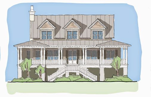 Carolina kite design by flatfish island designs in for Charleston house plans narrow lots