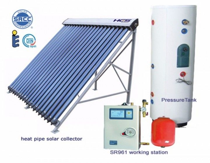 Split Pressurized Solar Water Heater 500 Liters Refurbished With A 10 Year Warranty