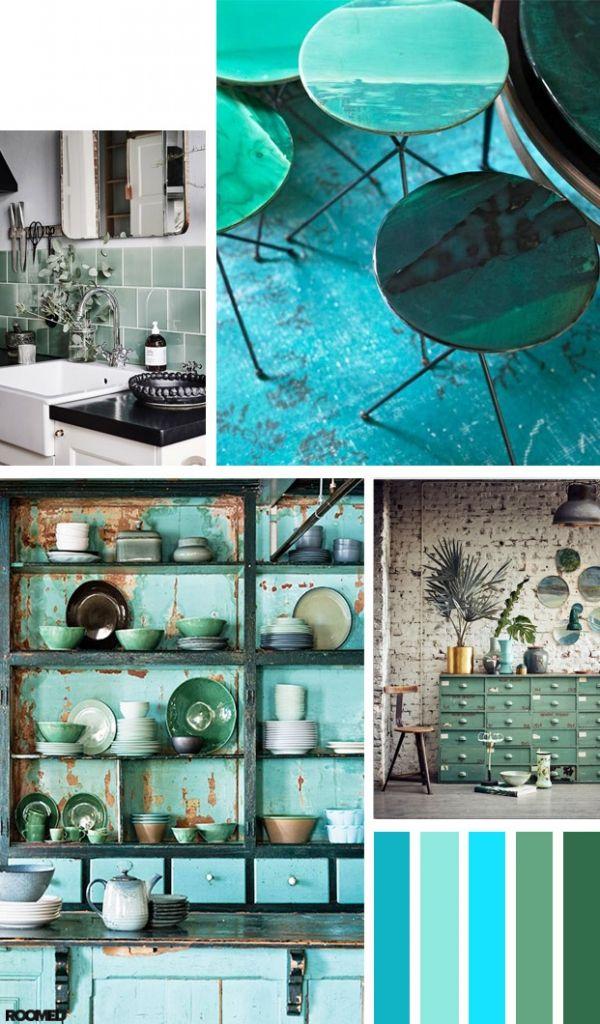 Colorboost: zeegroen en cyaan zijn dé kleuren voor een Wabi Sabi interieur - Roomed