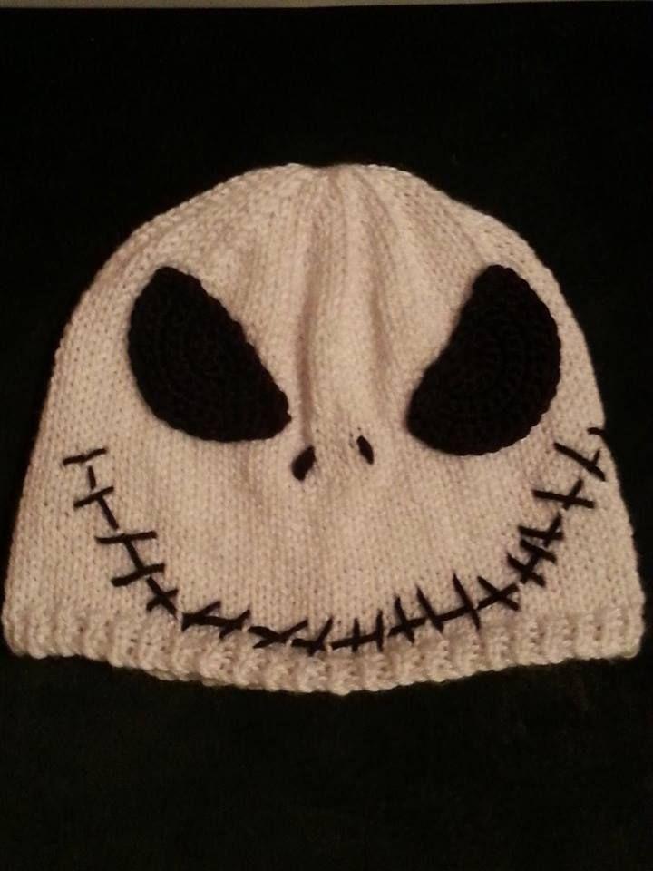 Knit Jack Skellington Hat My Knitting Work Pinterest
