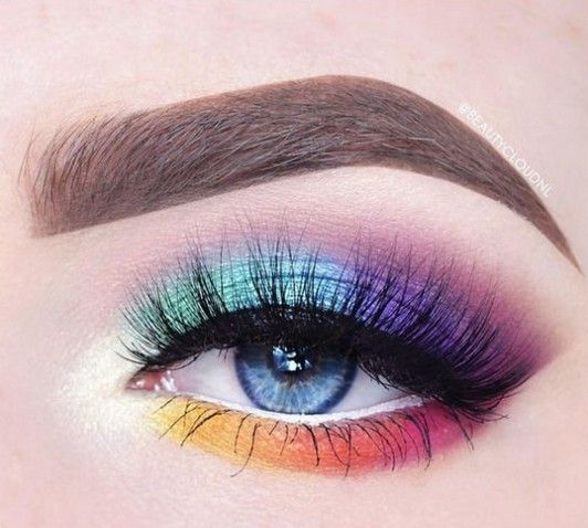 70+ Best Stunning Colorful Eye Makeup Inspirational Looks You Should Try