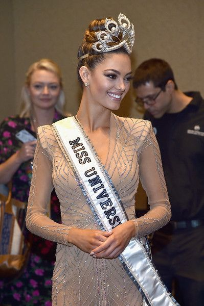 Miss Universe 2017 Demi-Leigh Nel-Peters appears in the press room after the 2017 Miss Universe Pageant at The Axis at Planet Hollywood Resort & Casino on November 26, 2017 in Las Vegas, Nevada.