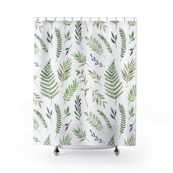 Green Leaf Pattern Shower Curtain Shark Shower Curtain Curtains Pattern
