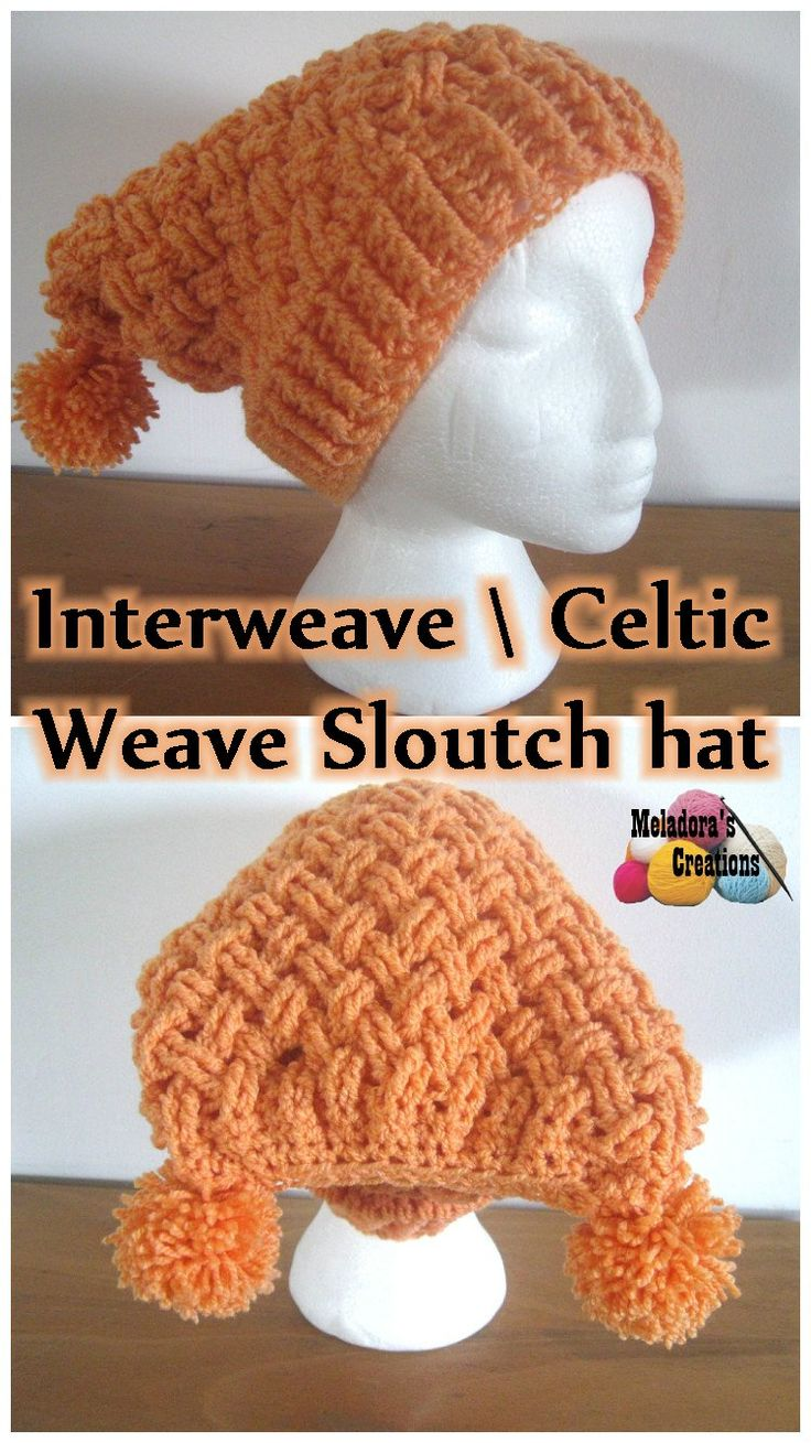 430 best crochet patterns free images on pinterest interweave cable stitch slouch hat free crochet pattern video tutorials by meladoras creations baditri Image collections