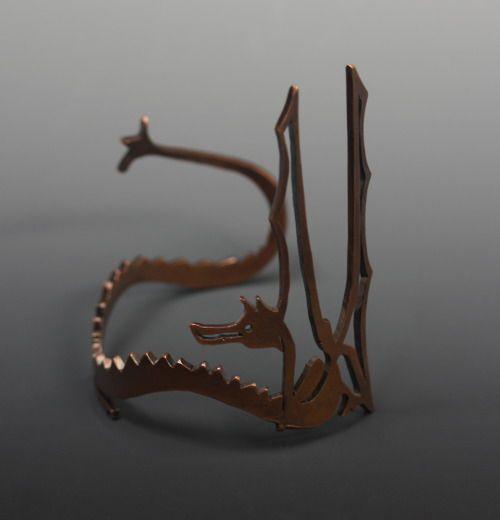 Smaug armband (Smaug is the dragon in The Hobbit)